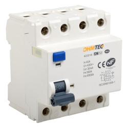 Interrupteur différentiel 3P+N 6kA 40A type A