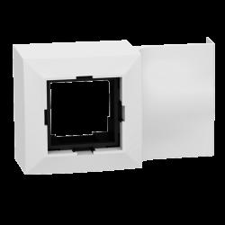 Adaptateur 45x45 pour moulure 10x20mm - Plastron pour appareillage